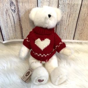 Boyds Head Bean Collection White Bear w/sw…